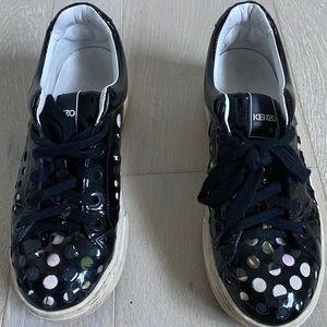 Kenzo black platform sneakers